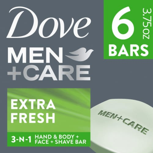 Dove Men+Care Extra Fresh Body & Face Bars Perspective: front