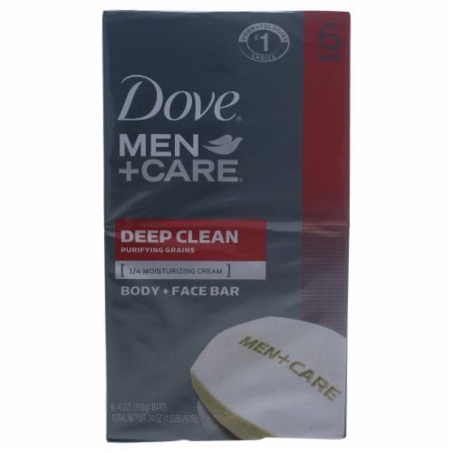 Dove Men + Care Deep Clean Body + Face Bar Perspective: front