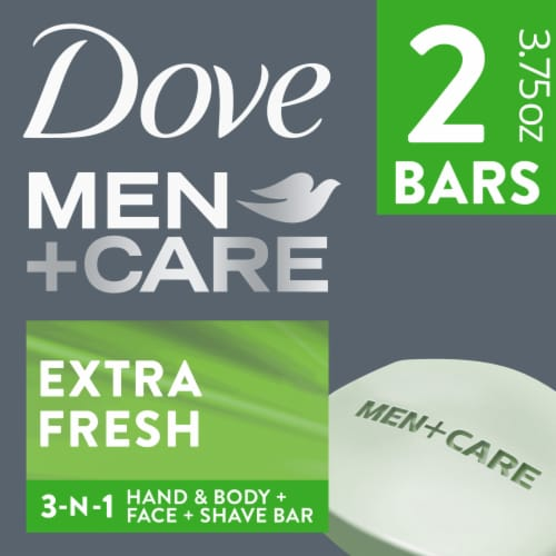 Dove Men Care Extra Fresh Body & Face Bars Perspective: front