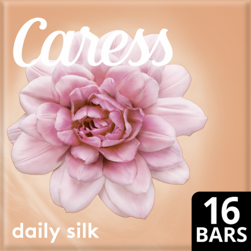 Caress Daily Silk Bar Soap 16 Count Perspective: front