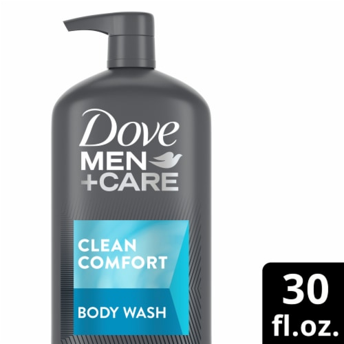 Dove Men+Care Clean Comfort Body Wash Perspective: front
