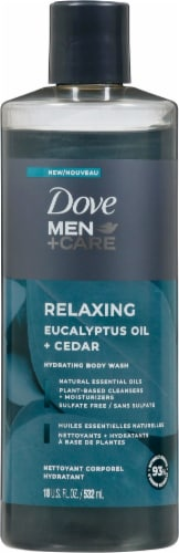 Dove Men+Care Relaxing Eucalyptus Oil + Cedar Hydrating Body Wash Perspective: front
