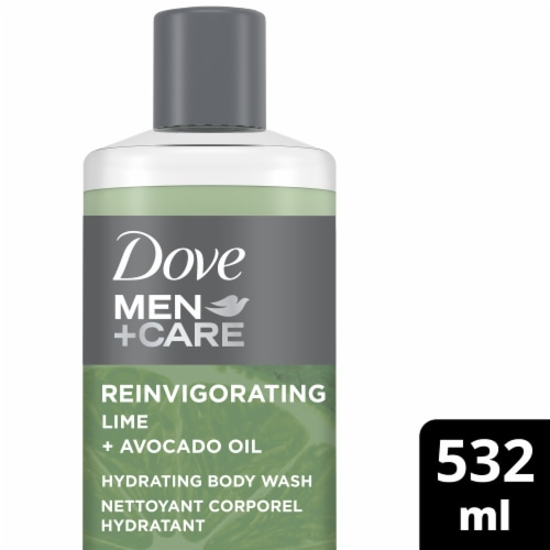 Dove Men+Care Reinvigorating Lime + Avocado Oil Hydrating Body Wash Perspective: front