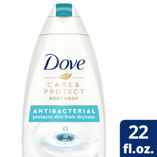 Dove Care & Protect Antibacterial Body Wash Perspective: front