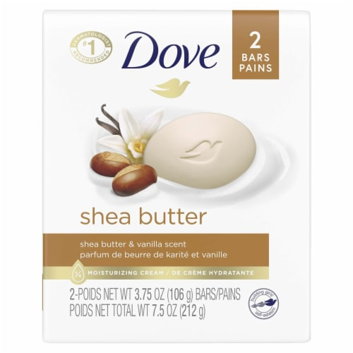 Dove Shea Butter Bar Soap Perspective: front