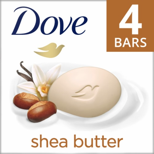 Dove Purely Pampering Warm Vanilla Shea Butter Beauty Bars Perspective: front