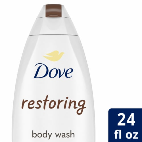 Dove Restoring Coconut Butter & Cocoa Butter Body Wash Perspective: front