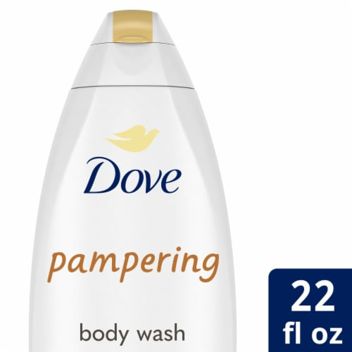 Dove Purely Pampering Shea Butter with Warm Vanilla Body Wash Perspective: front