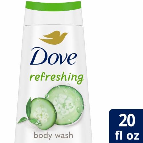 Dove Refreshing Cucumber & Green Tea Nourishing Body Wash Perspective: front