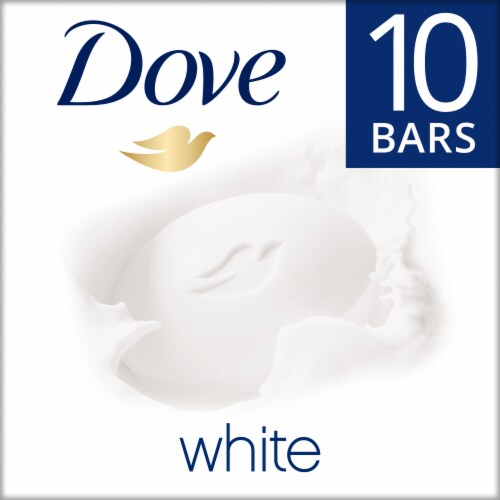 Dove White Deep Moisture Beauty Bars Perspective: front