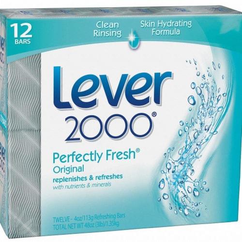 Lever 2000 Bar Soap,4 Oz.,Fresh,Gentle,PK72  CB325835 Perspective: front