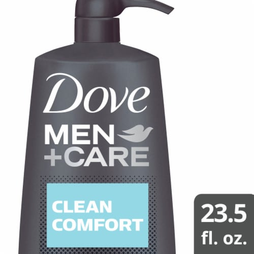 Dove Men+Care Clean Comfort Micro Moisture Body + Face Wash Perspective: front
