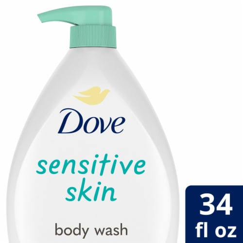 Dove Sensitive Skin Nourishing Body Wash Perspective: front