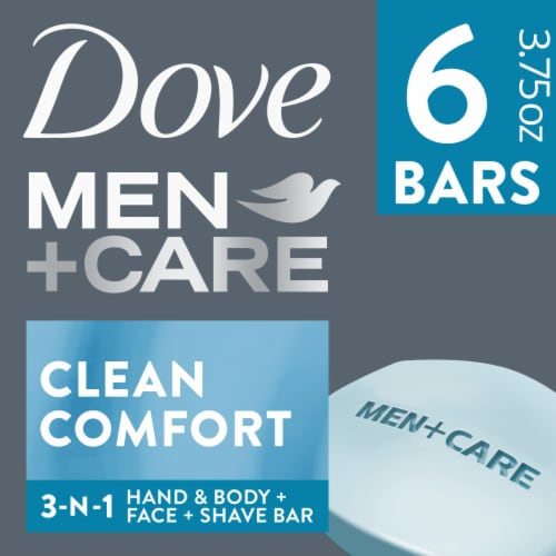 Dove Men+Care Clean Comfort Body + Face Bars Perspective: front