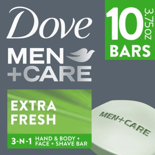 Dove Men+ Care Extra Fresh Body and Face Bars Perspective: front