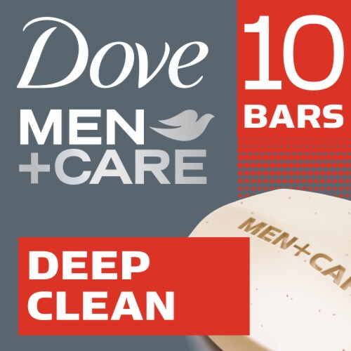 Dove Men + Care Deep Clean Body + Face Bars Perspective: front