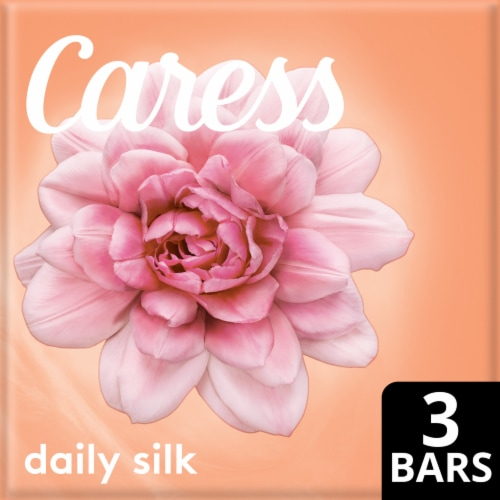 Caress Daily Silk White Peach & Orange Blossom Bar Soap Perspective: front