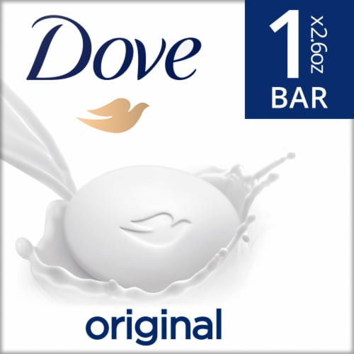 Dove Travel Size White Bar Soap Perspective: front