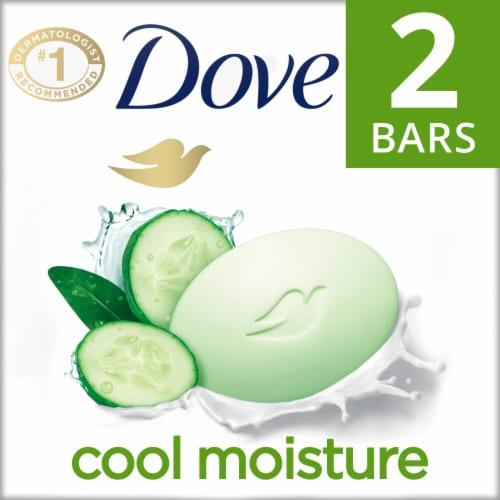 Dove Go Fresh Cool Moisture Cucumber & Green Tea Scent Beauty Bars Perspective: front