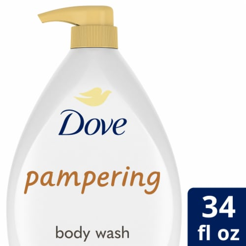Dove Purely Pampering Body Wash with Shea Butter & Warm Vanilla Perspective: front