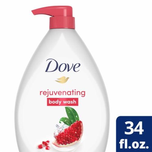 Dove Go Fresh Pomegranate & Lemon Verbena Body Wash Pump Perspective: front