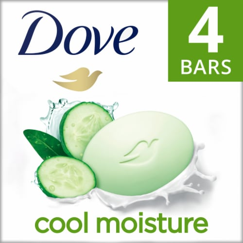 Dove Go Fresh Cool Moisture Cucumber and Green Tea Beauty Bar Perspective: front