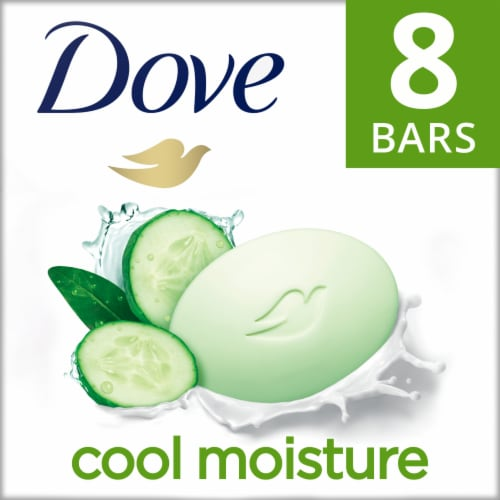 Dove Go Fresh Cool Moisture Cucumber & Green Tea Beauty Bars Perspective: front