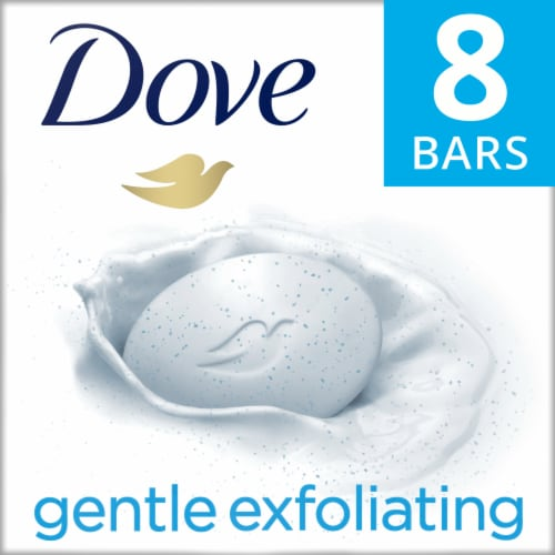 Dove Gentle Exfoliating Beauty Bars Perspective: front