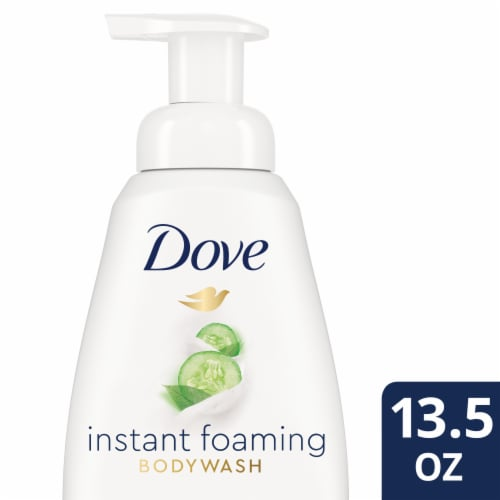 Dove Cucumber & Green Tea Instant Foaming Body Wash Perspective: front