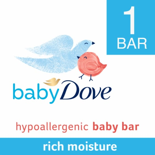 Baby Dove Hypoallergenic Rich Moisture Baby Soap Bar Perspective: front