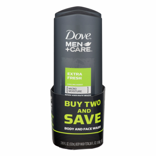 Dove Men +Care Extra Fresh Body & Face Wash Perspective: front