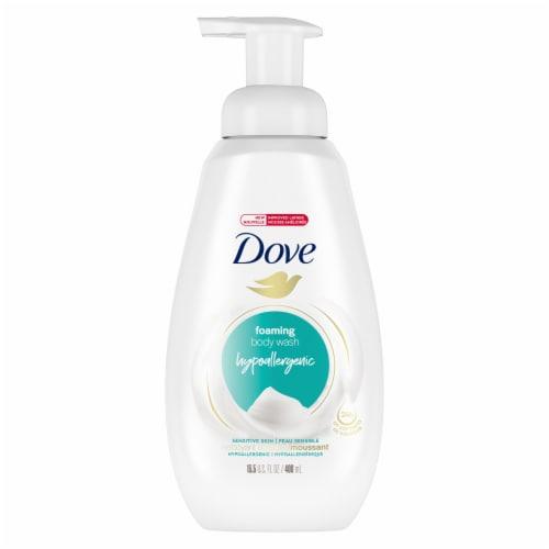 Dove Sensitive Skin Instant Foaming Body Wash Pump Perspective: front