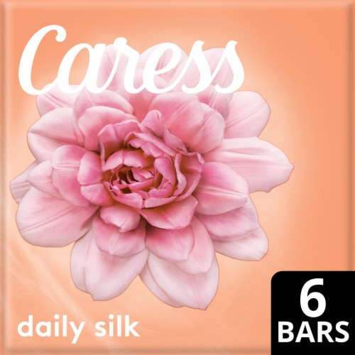 Caress White Peach & Orange Blossom Daily Silk Beauty Bars Perspective: front