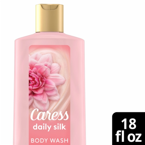 Caress Daily Silk White Peach & Orange Blossom Body Wash Perspective: front