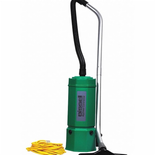 Bissell Commercial Backpack Vacuum,Disposable Bag,9.5 lb. Perspective: front