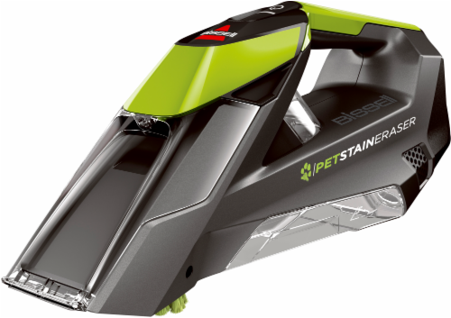 Bissell Pet Stain Eraser Cordless Portable Carpet Cleaner - Titanium/Green Perspective: front