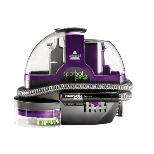 Bissell  SpotBot Pet  Bagless  Carpet Cleaner  3 amps Standard  Purple - Case Of: 1; Perspective: front