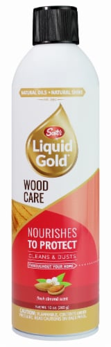 Scott's Liquid Gold Almond Scent Wood Cleaner Perspective: front