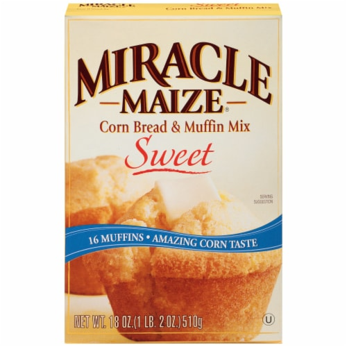 Miracle Maize Sweet Corn Bread & Muffin Mix Perspective: front