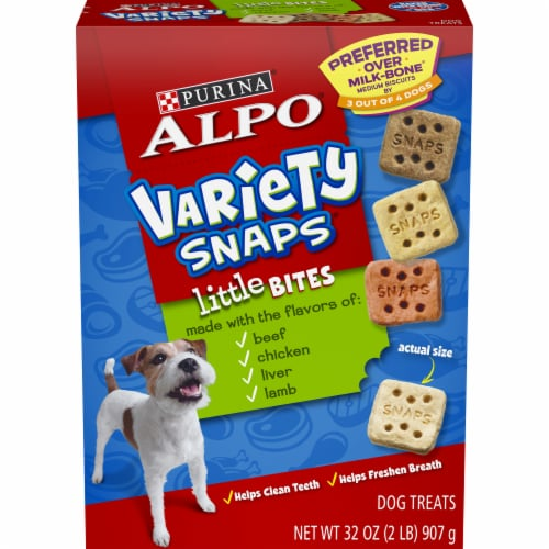 ALPO® Variety Snaps® Little Bites Beef Chicken Liver & Lamb Dog Treats Perspective: front