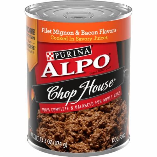 ALPO Chop House Filet Mignon & Bacon Flavor Adult Wet Dog Food Perspective: front
