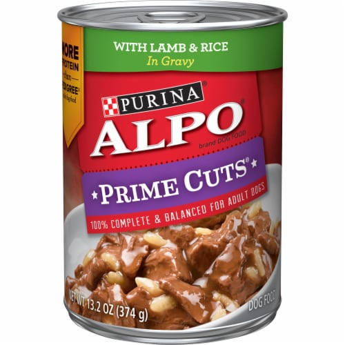 ALPO Prime Cuts with Lamb & Rice in Gravy Wet Dog Food Perspective: front