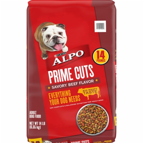 ALPO Prime Cuts Savory Beef Flavor Adult Dry Dog Food Perspective: front