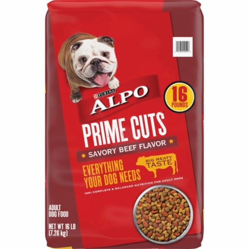 ALPO® Prime Cuts Savory Beef Flavor Dry Dog Food Perspective: front