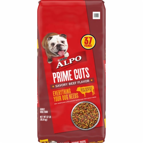 Purina ALPO Prime Cuts Savory Beef Flavor Dry Dog Food Perspective: front