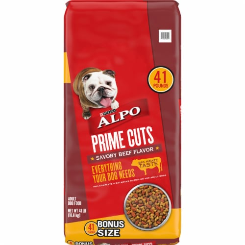 ALPO Prime Cuts Savory Beef Flavor Dry Dog Food Perspective: front