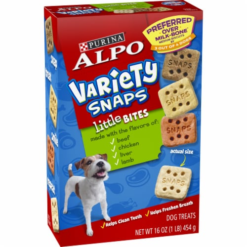 ALPO Variety Snaps Little Bites Dog Treats Perspective: front