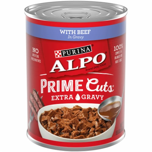 Purina Alpo Chop House Prime Rib Flavor Wet Dog Food Perspective: front