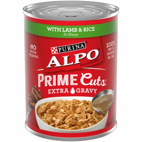 Purina Alpo Prime Cuts Lamb & Rice in Gravy Wet Dog Food Perspective: front