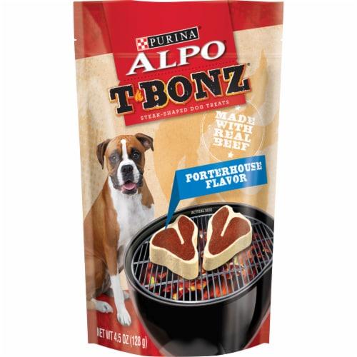 ALPO T-Bonz Porterhouse Flavor Dog Treats Perspective: front
